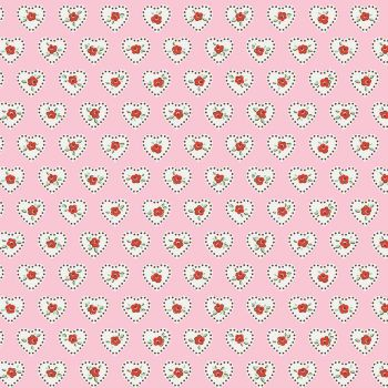 Penny Rose Fabrics ~ Little Dolly ~ Dolly Hearts Pink