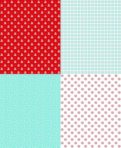 Riley Blake Fabric ~ A Little Sweetness ~ Fat Quarter Panel Aqua