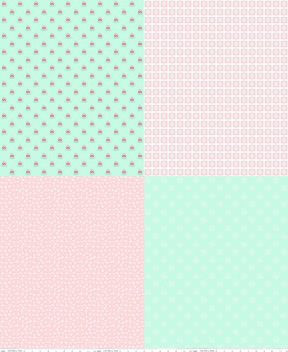Riley Blake Fabric ~ A Little Sweetness ~ Fat Quarter Panel Mint
