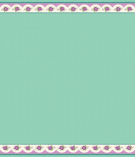 Penny Rose Fabrics ~ Prim and Proper ~ Border Stripe Mint (LONG QUARTER)