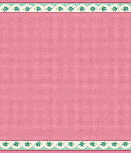 Penny Rose Fabrics ~ Prim and Proper ~ Border Stripe Pink (LONG QUARTER)