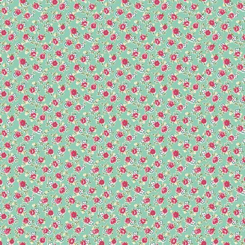 Penny Rose Fabrics ~ Prim and Proper ~ Little Floral Mint