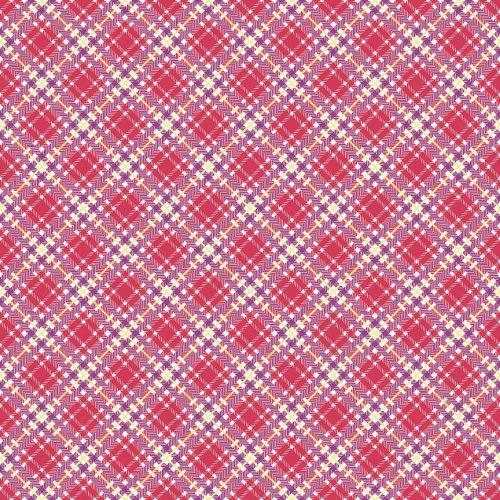 Penny Rose Fabrics ~ Prim and Proper ~ Plaid Raspberry