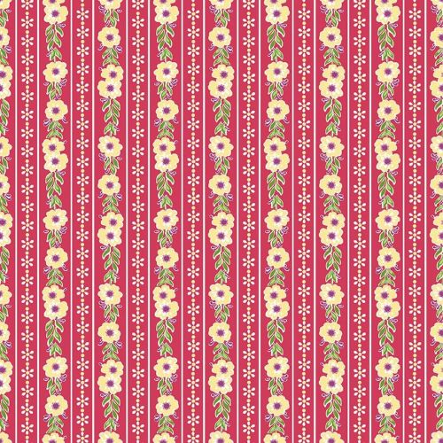 Penny Rose Fabrics ~ Prim and Proper ~ Stripe Raspberry