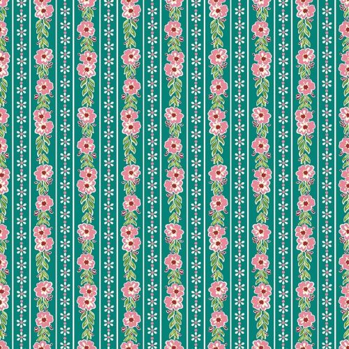 Penny Rose Fabrics ~ Prim and Proper ~ Stripe Teal