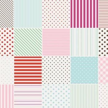 Penny Rose Fabrics ~ Little Dolly ~ Dolly Blocks Pink HALF METRE