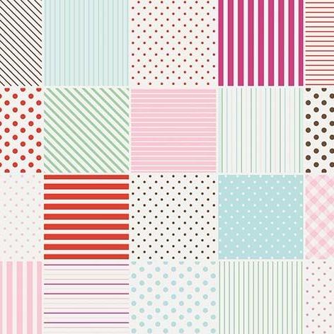 Penny Rose Fabrics ~ Little Dolly ~ Blocks Pink HALF METRE