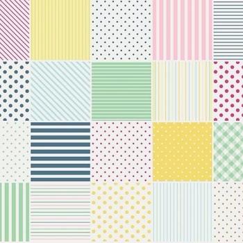 Penny Rose Fabrics ~ Little Dolly ~ Dolly Blocks Yellow HALF METRE