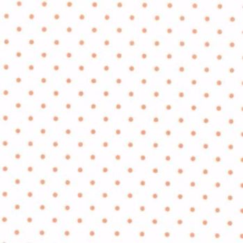 Moda Fabrics ~ Essential Dots ~ Dot in White with Orange Spots