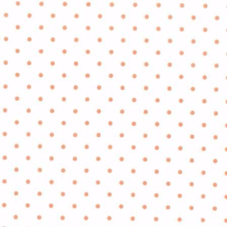 Moda Fabrics ~ Essential Dots ~ Dot in White with Orange Spots