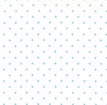 Moda Fabrics ~ Essential Dots ~ Dot in White with Teal Spots