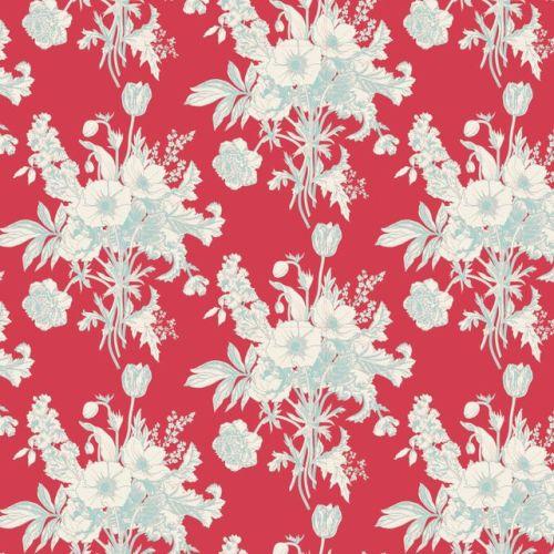 Tilda ~ Cottage ~ Botanical Red