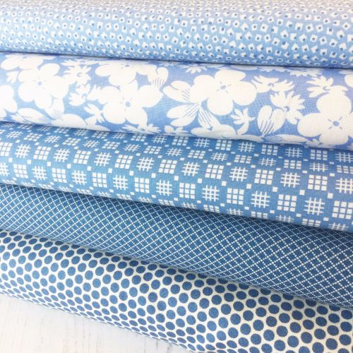 Penny Picks ~ 30's Reproduction Fabric Fat Quarter Bundle ~ Blue