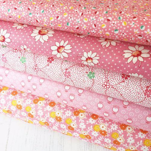 Penny Picks ~ 30's Reproduction Fabric Fat Quarter Bundle ~ Pink