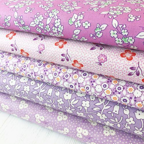 Penny Picks ~ 30's Reproduction Fabric Fat Quarter Bundle ~ Purple/Lilac