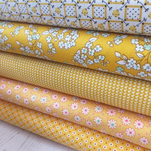 Penny Picks ~ 30's Reproduction Fabric Fat Quarter Bundle ~ Yellow