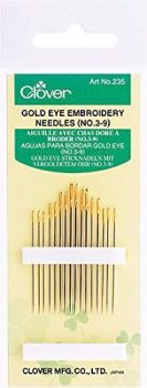 Clover Gold Eye Needles ~ Embroidery Needles