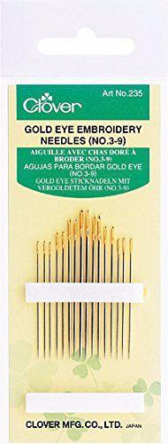 Clover Gold Eye Needles ~ Embroidery Needles