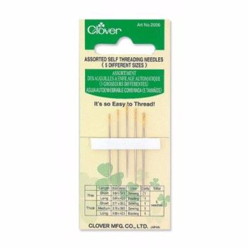 Clover Gold Eye Needles ~ Self Threading Needles (Assorted)