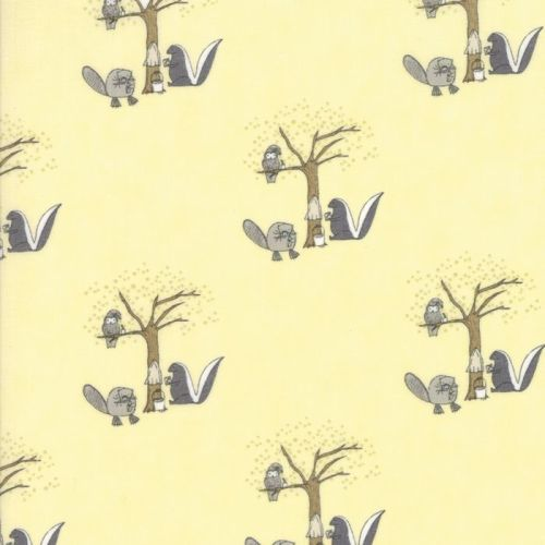 Moda Fabrics ~ Hushaby Hollow ~ Woodland Animals Twinkle