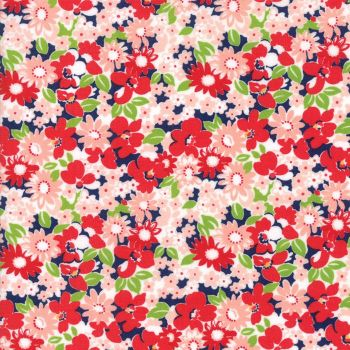Moda Fabrics ~ The Good Life ~ Flower Garden Navy