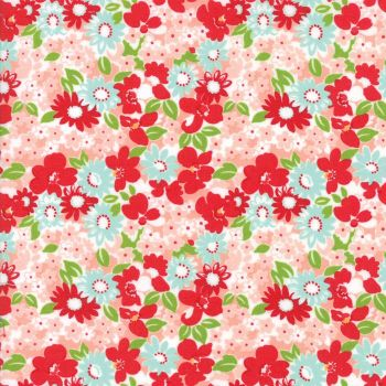 Moda Fabrics ~ The Good Life ~ Flowergarden Coral
