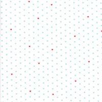 Moda Fabrics ~ The Good Life ~ Whole Heart Aqua on Cream