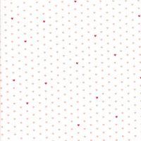 Moda Fabrics ~ The Good Life ~ Whole Heart Coral on Cream