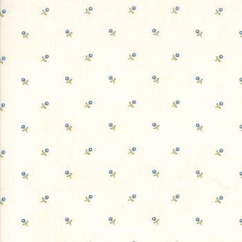 Moda Fabrics ~ Ann's Arbor ~ Buds Blue on Cream