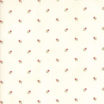 Moda Fabrics ~ Ann's Arbor ~ Buds Red on Cream