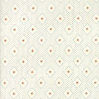 Moda Fabrics ~ Ann's Arbor ~ Diamonds and Rose Bud Blue on Cream