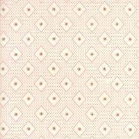Moda Fabrics ~ Ann's Arbor ~ Diamonds and Rose Bud Red on Cream