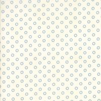 Moda Fabrics ~ Ann's Arbor ~ Dot Blue on Cream