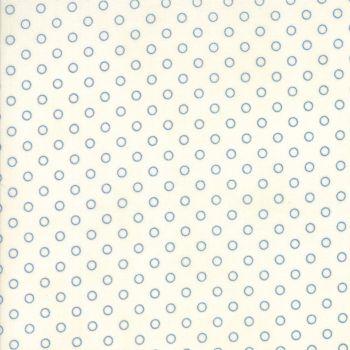 Moda Fabrics ~ Ann's Arbor ~ Dot Blue on Cream