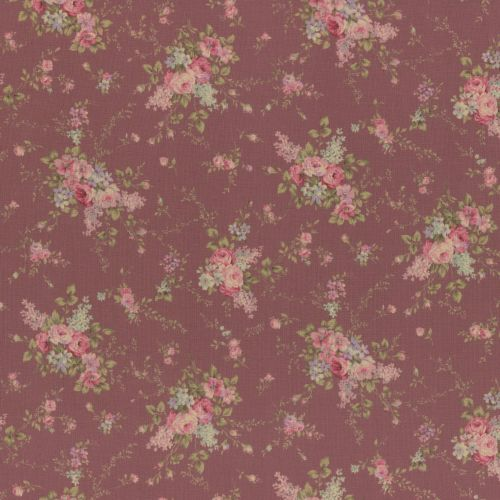 Lecien Fabric ~ Antique Rose ~ Garland Pink
