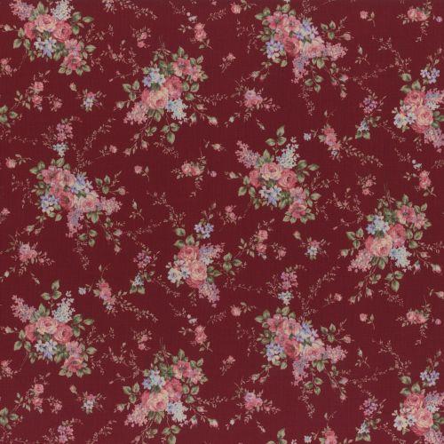 Lecien Fabric ~ Antique Rose ~ Garland Wine