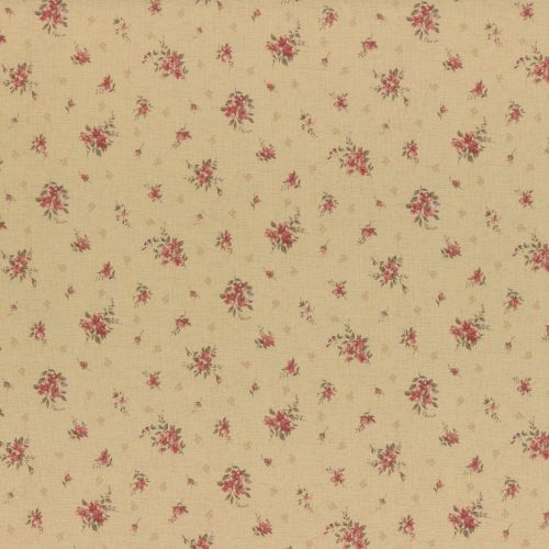 Lecien Fabric ~ Antique Rose ~ Rosebud Cream