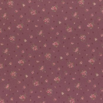 Lecien Fabric ~ Antique Rose ~ Rosebud Pink