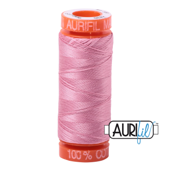 Aurifil ~ 50 wt Cotton ~ 2430 ~ Antique Rose Small Spool