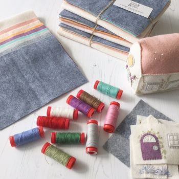 Sarah Selects ~ Aurifil 12wt Lana Wool ~ Little House Pincushion