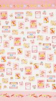 Lecien Fabric ~ Candy Shop ~ Labels Pink (Sold by the Half Metre)