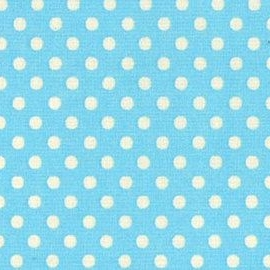 Lecien Fabric ~ Colour Basic ~ Small Polka Dot Baby Blue