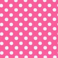 Lecien Fabric ~ Colour Basic ~ Polka Dot Candy Pink
