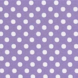 Lecien Fabric ~ Colour Basic ~ Polka Dot Lilac