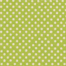 Lecien Fabric ~ Colour Basic ~ Polka Dot Lime Green