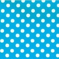 Lecien Fabric ~ Colour Basic ~ Polka Dot Turquoise