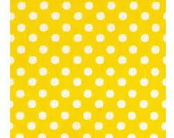 Lecien Fabric ~ Colour Basic ~ Polka Dot Sunshine Yellow