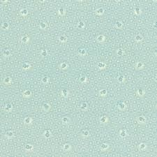 Lecien Fabric ~ Quilters Basic ~ Scallop Flower Duck Egg