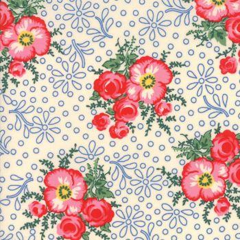 Moda Fabrics ~ Merry Go Round ~ Large Floral Ivory