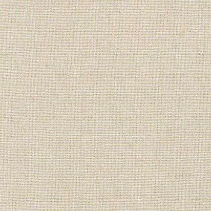 Robert Kaufman Fabrics ~ Essex Yarn Dyed Metallic ~ Sand